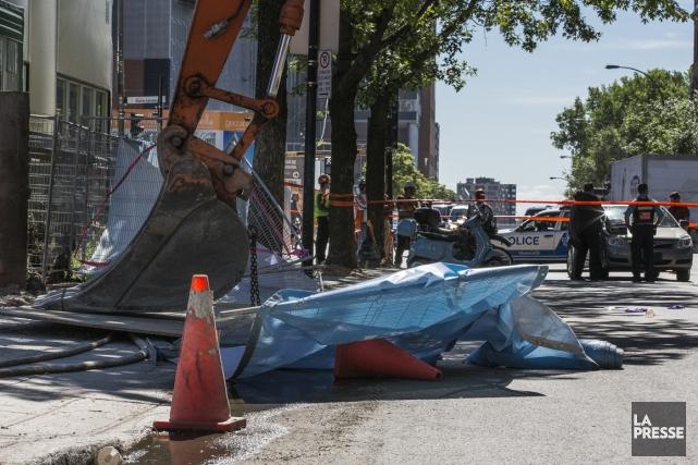 La scène de l'accident.... (Photo archives La Presse)