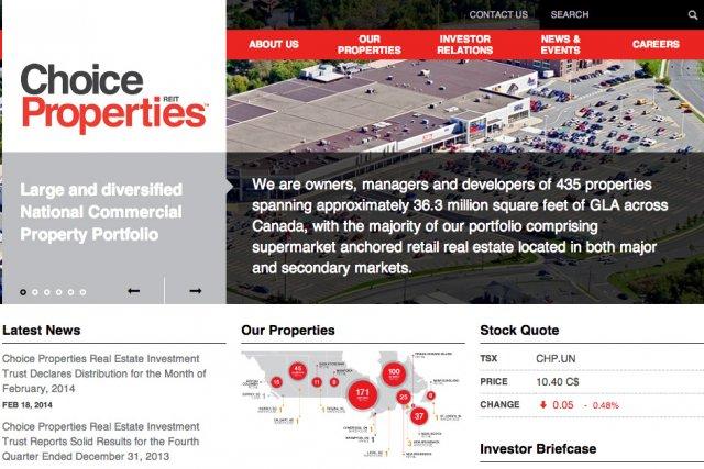 La fiducie de placement immobilier Propriétés de choix(T.CHP.UN),...