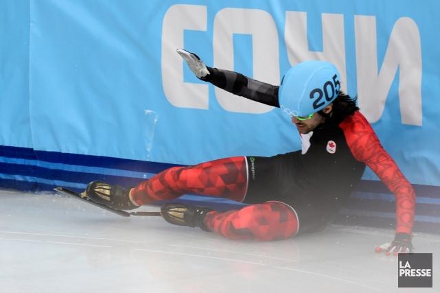 Charles Hamelin a encore chuté de façon inexplicable... (Photo Bernard Brault, La Presse)