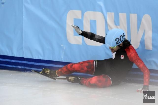 Charles Hamelin a chuté alors qu'il dominait confortablement... (Photo Bernard Brault, La Presse)