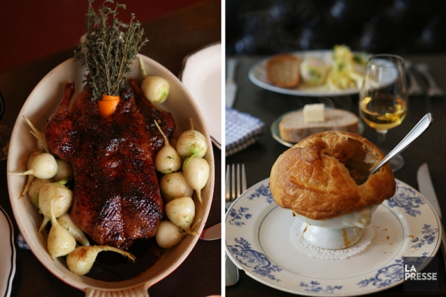Voici deux classiques revus par l'équipe de Joe Beef: le canard aux navets et à... (Photos Martin Chamberland, La Presse)