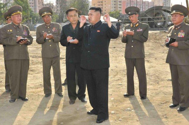 Le leader nord-corééen, Kim Jong-Un.... (PHOTO AFP)
