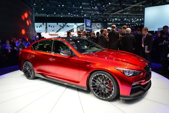 Le concept Q50 Eau Rouge d'Infiniti... (Photo Stan Honda, AFP)