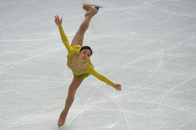 La Sud-Coréenne Yuna Kim tente de devenir la... (Photo Damien Meyer, AFP)