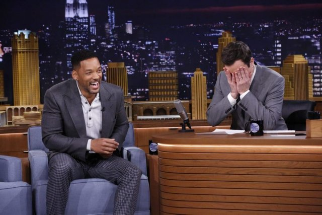 Jimmy Fallon reçoit Will Smith au Tonight Show.... (Photo: AP)