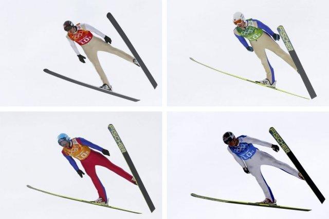 De haut en bas, de gauche à droite,... (Photo Michael Dalder, Reuters)