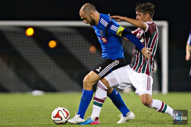 L'attaquant Marco Di Vaio lors du match contre... (Photo Olivier Jean, La Presse)