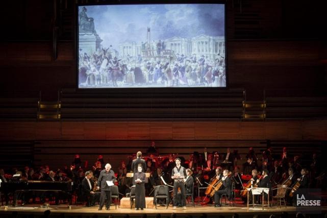 Placer une grande oeuvre symphonique dans un contexte visuel mêlant narrations,... (Photo: Olivier Pontbriand, La Presse)