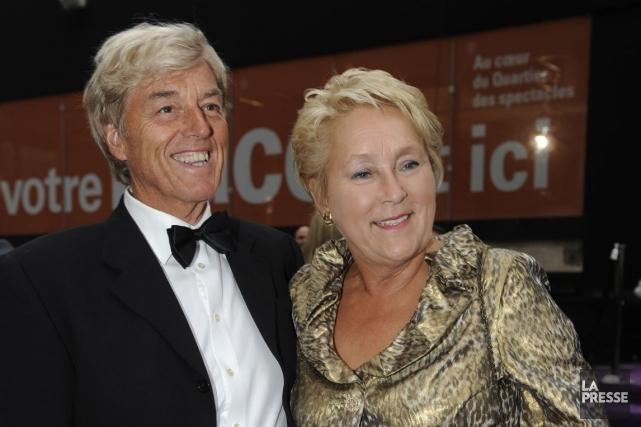 Claude Blanchet et PaulineMarois.... (Photo Bernard Brault, Archives La Presse)