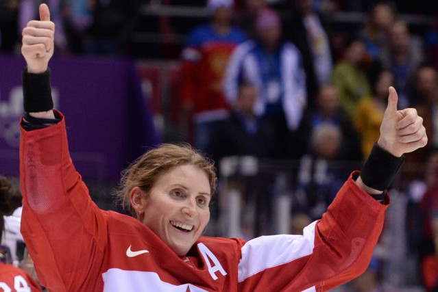 Hayley Wickenheiser... (Photo: archives Agence France Presse)