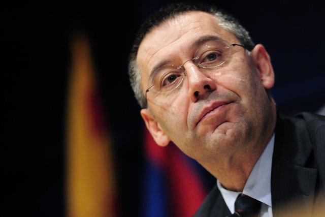 Josep Bartomeu, le président du FC Barcelone.... (PHOTO JOSEP LAGO, ARCHIVES AFP)