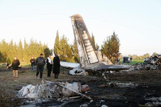 L'appareil s'est écrasé dans la région de Grombalia,... (PHOTO MOHAMED FLISS, AFP)
