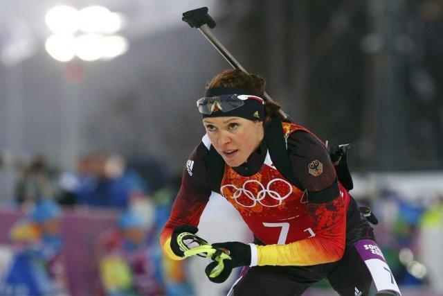La biathlète allemande Evi Sachenbacher-Stehle a échoué un... (PHOTO MICHAEL DALDER, REUTERS)