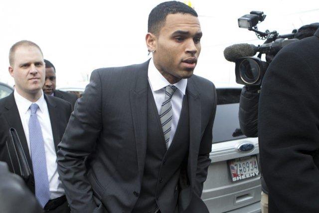 Chris Brown en janvier dernier.... (Photo: archives AP)