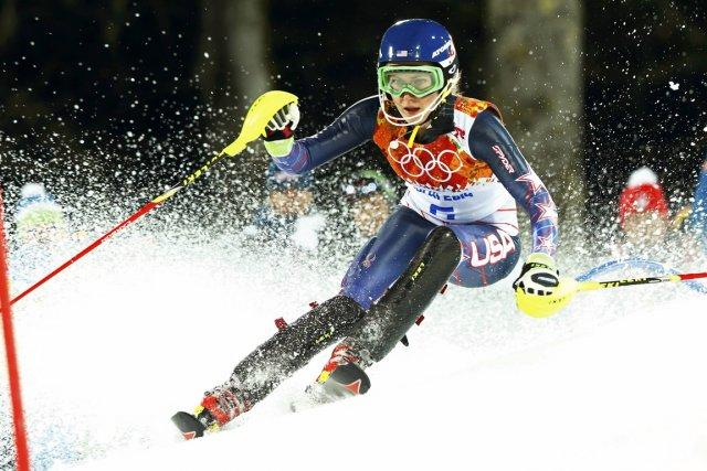 L'Américaine de 18 ans Mikaela Shiffrin est devenue... (Photo Ruben Sprich, Reuters)