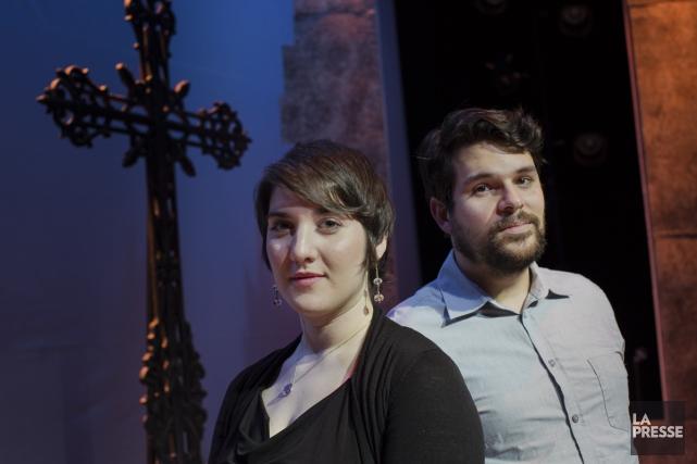 Geneviève Colletta, soprano de 25 ans, et Julien... (Photo: Édouard Plante-Fréchette, La Presse)