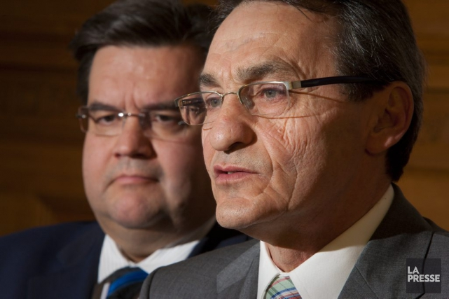 Denis Coderre et Richard Bergeron... (PHOTO ANDRÉ PICHETTE, ARCHIVES LA PRESSE)