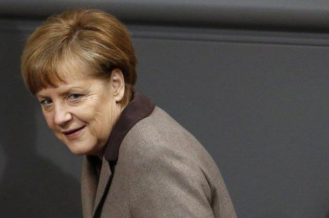 La chancelière allemande Angela Merkel.... (PHOTO THOMAS PETER, REUTERS)