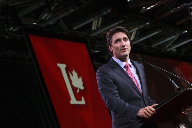 Justin Trudeau aucongrès du Parti libéral, samedi à... (PHOTO CHRISTINNE MUSCHI, REUTERS)