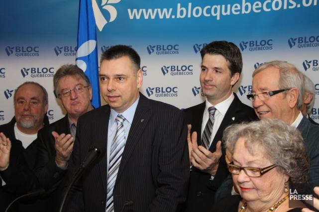 André Bellavance (au centre) aux côtés de son... (Photo photothèque La Presse)