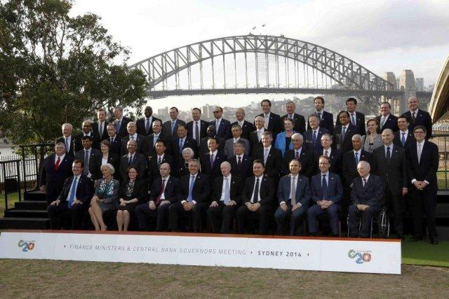 Les ministres des Finances et les banquiers centraux... (PHOTO JASON REED, REUTERS)