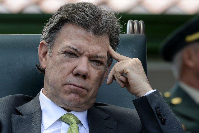 Le président colombienJuan Manuel Santos... (Photo Luis Acosta, archives AFP)