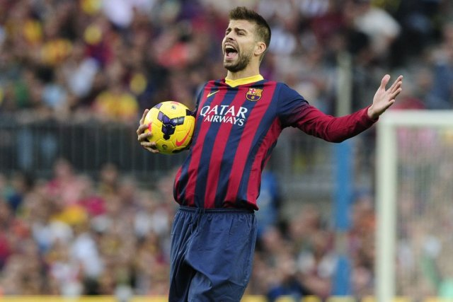 Le défenseur du FC Barcelone Gerard Piqué.... (Photo Josep Lago, archives AFP)