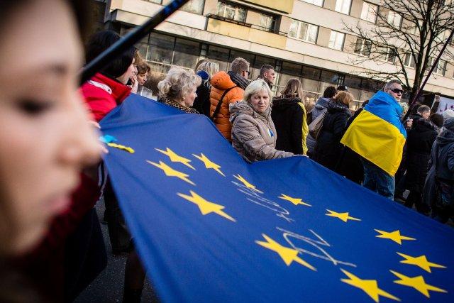 L'Ukraine est entrée dimanche dans une nouvelle ère... (Photo WOJTEK RADWANSKI, AFP)