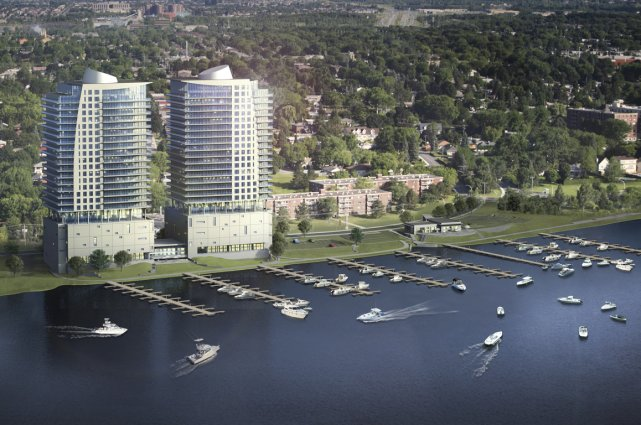 Le projet de condominiums Commodore, à Laval.... (Illustration fournie par Aldo Construction)