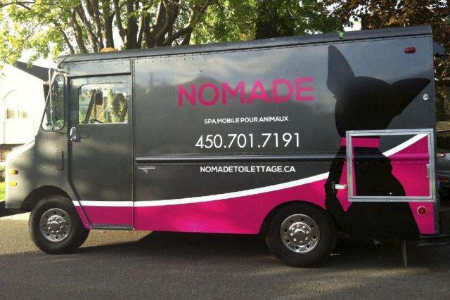 Marie Lapierre, propriétaire de Nomade Toilettage, a construit... (Photo tirée du site nomadetoilettage.ca)