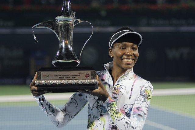 Venus Williams a remporté le tournoi de Dubaï... (Photo Kamran Jebreili, AP)