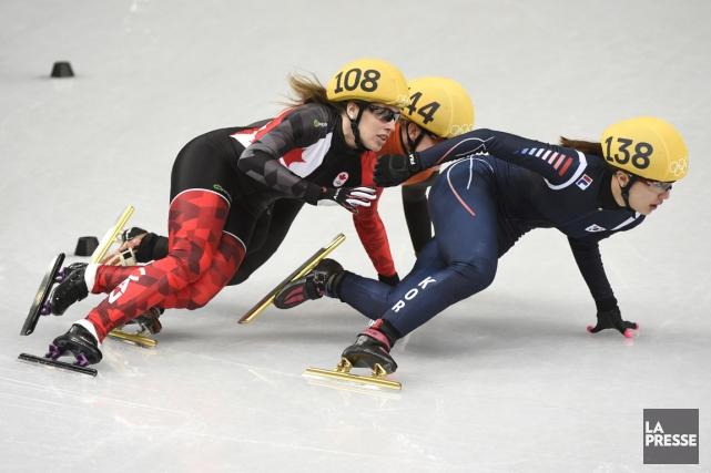 Les patineurs canadiens s'attendaient à faire le plein... (Photo Bernard Brault, La Presse)