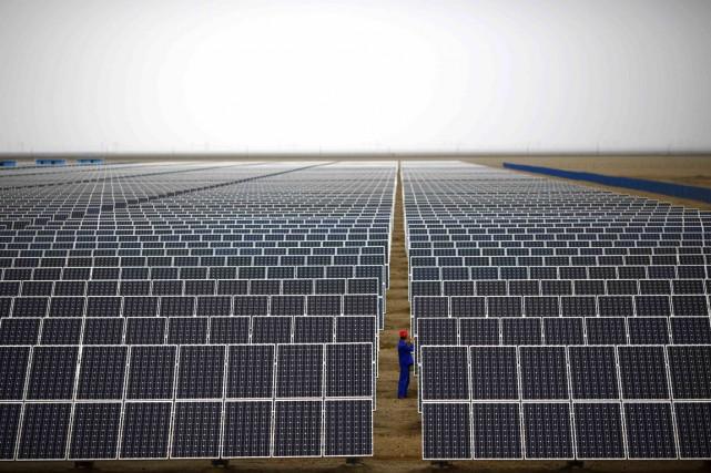 L'investissement total dans les énergies vertes est en... (Photo Carlos Barria, archives Reuters)