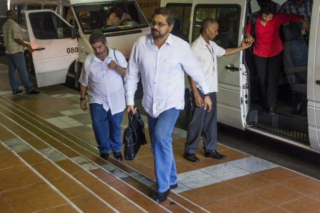 Des têtes dirigeantes des FARC arrivent à La... (PHOTO AFP)