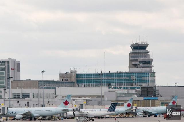 Une vue sur l'aéroport Montréal-Trudeau, connu sous le... (PHOTO DAVID BOILY, LA PRESSE)