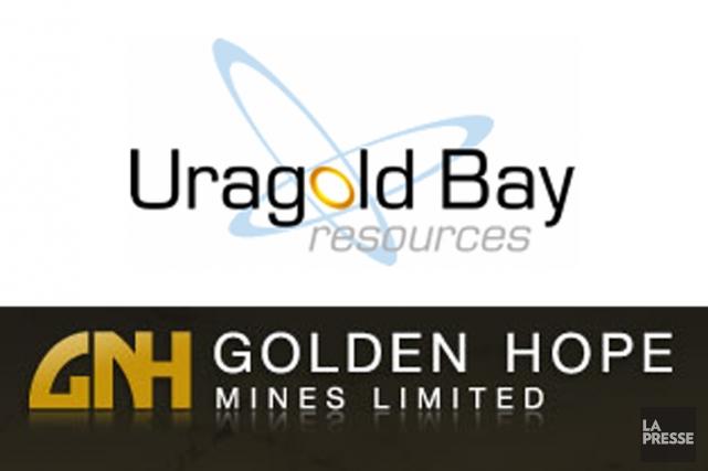 Deux sociétés minières montréalaises, Uragold Bay Resources (T.UBR)et... (PHOTOMONTAGE LA PRESSE)