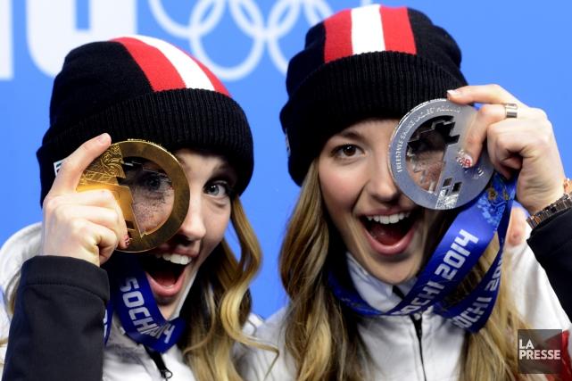 Grâce entre autres aux soeurs Justine et Chloé... (Photo Bernard Brault, La Presse)