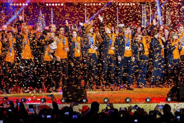 Les 41 athlètes de la délégation néerlandaise à... (Photo Koen van Weel, AFP)