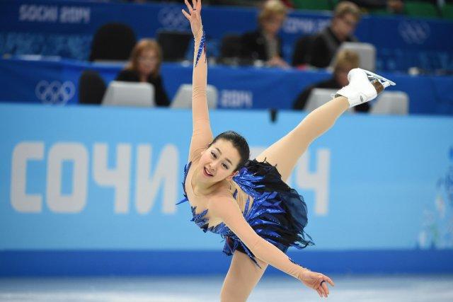 La patineuse japonaise Mao Asada a terminé au... (Photo Damien Meyer, AFP)