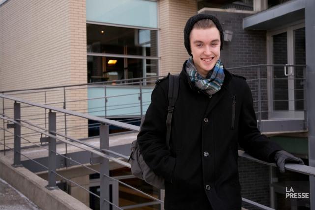 Marc-Antoine Sylvestre, 17 ans, cultive le juste équilibre,... (Photo David Boily, La Presse)