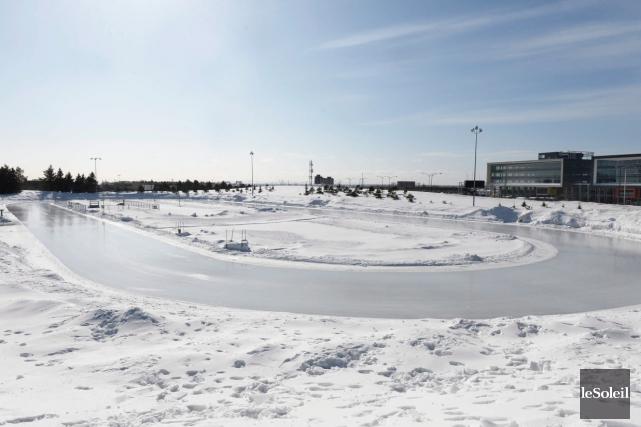 L'anneau de glace Gaétan Boucher, dans Sainte-Foy... (Photothèque Le Soleil, Pascal Ratthé)