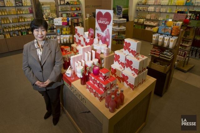 La nouvelle présidente de Fruits et Passion, KyungRhee,... (PHOTO IVANOH DEMERS, LA PRESSE)