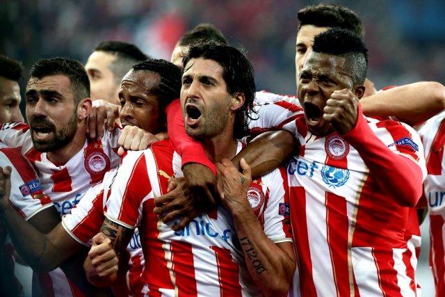Alejandro Dominguez (au centre) a célébré avec ses... (Photo AFP)