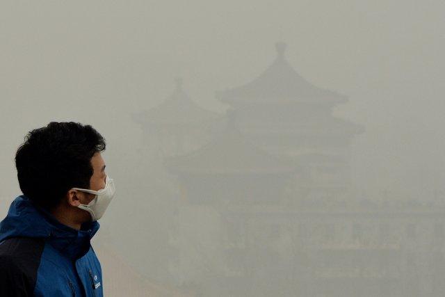 Souvent surnommée «airpocalypse» lors de ses épisodes les... (PHOTO MARK RALSTON, AFP)