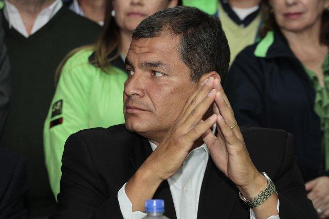 Le président équatorien Rafael Correa... (Photo JUAN CEVALLOS, AFP)