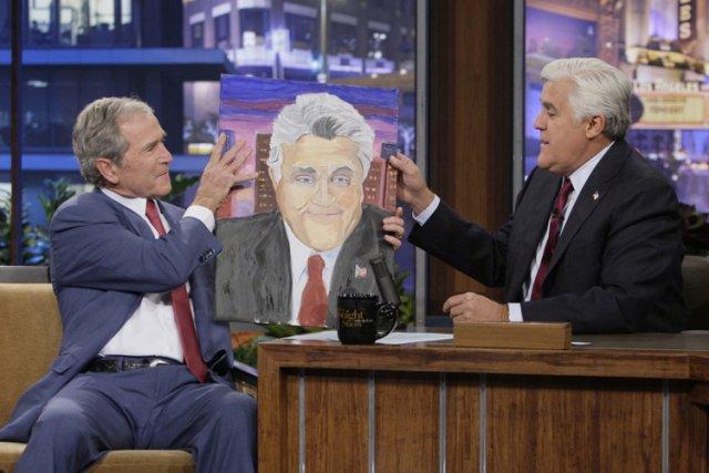 George W. Bush a offert un portrait de... (Photo: AP)