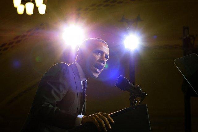 Barack Obama a livré un discours mercredidans un... (Photo: AFP)