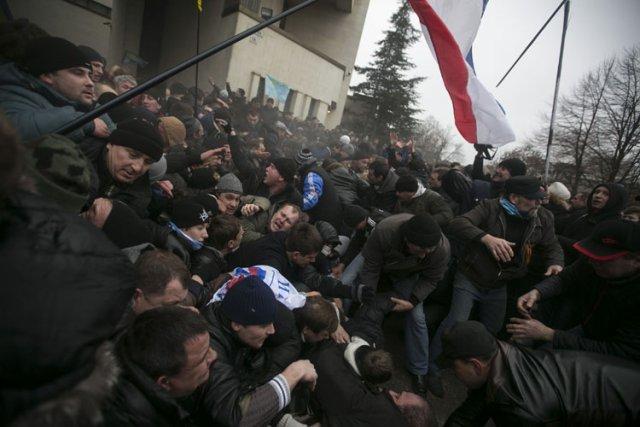 La Crimée, peuplée majoritairement de russophones, a été... (Photo: Reuters)