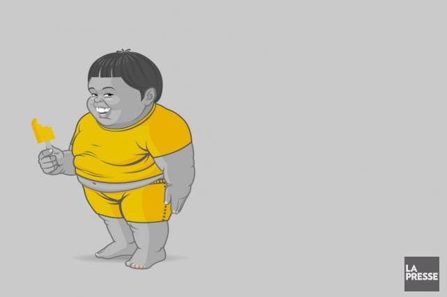 L'obésité est un problème de santé publique qu'on... (Graphisme Johan Batier, La Presse)