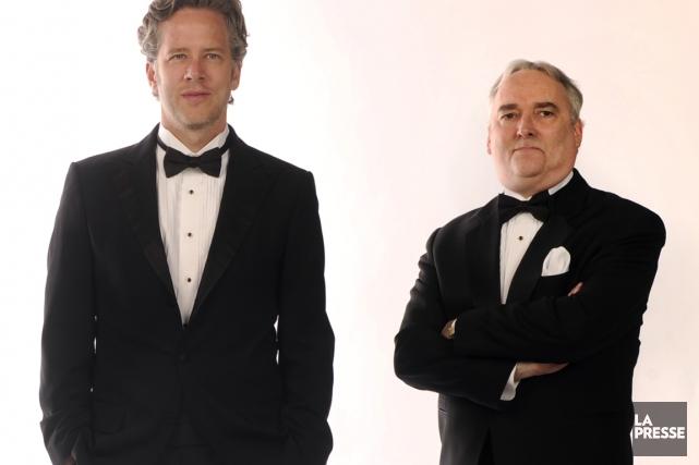 Marc Cassivi et Marc-André Lussier... (Photo Bernard Brault, archives La Presse)